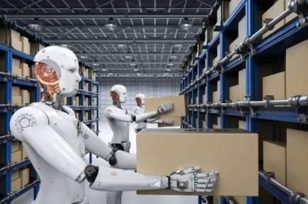 robots carry boxes